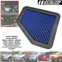Works High Flow Air Filter For Toyota Avalon Camry RAV4 3.5L 2GR-FE 2007-11