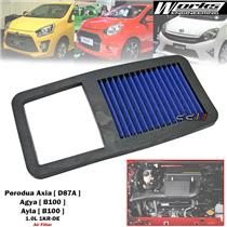 Works High Flow Air Filter For Perodua Axia D87A Agya Ayla 1.0L 1KR-DE 2014-17
