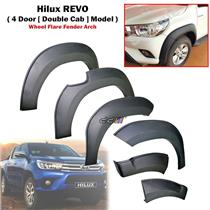 Complete Set Wheel Flare Fender Arch For Hilux REVO M70 M80 Double Cab 2015-ON