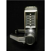 KABE Mechanical Push Button Lockset,5 Button,Vandal Resistant Satin Chrome