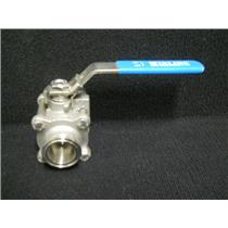 "INLINE INDUSTRIES STAINLESS STEEL SANITARY BALL CLAMP VALVE 1 1/2"" 3A14110"