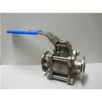 "INLINE INDUSTRIES STAINLESS STEEL SANITATY BALL CLAMP VALVE 1""  MODEL 3A14112"