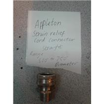 Appleton CG5050 Strain Relief Cord Connector Straight