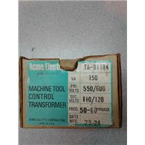 Acme Electric TA-81184 Machine Tool Control Transformer