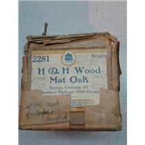 H&H 2281 Wood Mat Oak Single Gang