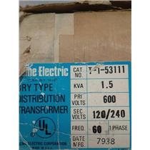 Acme Electric T-1-53111 Dry-Type Distribution Transformer, 1.5Kva, 600V, 1Ph