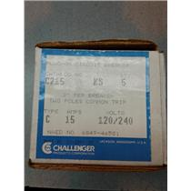 Challenger C120 Type C Circuit Breaker 2 Pole 15 Amp 120V