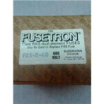 Bussman FRS-R-40 Fusetron Dual Element Time Delay Current Limiting Fuse