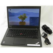 "Lenovo Thinkpad T440 14"" Core i5 1.9GHz 4GB 500GB Laptop Adapter WiFi Web Cam"