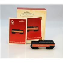 Hallmark Keepsake Ornament 2003 Daylight Oil Tender Lionel Trains #QXI8249-SDB