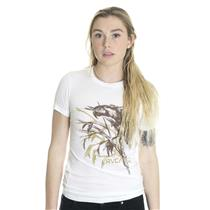 XS NWT RUCA RVCA White Brown & Beige Parrot Graphic Island Logo T-Shirt 21120095