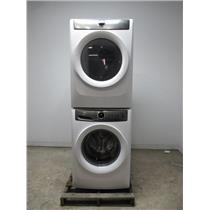 "ELECTROLUX Front Load Stacked 27"" Washer & Dyer Set EFLW417SIW/ EFMG417SIW"