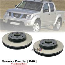1 Pair Front L+R Disc Brake Rotors For Nissan Navara D40 MNT Thai 2005-2014