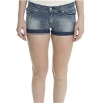 27 NWT Authentic Rock & Republic Jeans Lulu Lowrise Denim Cuffed Shorts Sedition