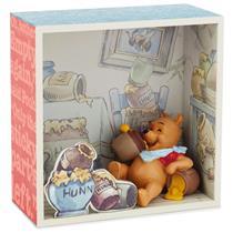 Hallmark Winnie the Pooh Shadow Box & Figurine - Tummy Full of Hunny - #HUN2024