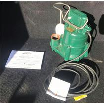 1/2HP Submersible Sump Pump, Vertical Switch Type,Cast Iron Base,15ft cord, 240V