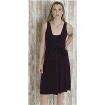 M Velvet by Graham & Spencer Twist/Knot Front Empire Waist Jersey Dress Brown