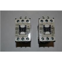 (LOT OF 2) FUJI ELECTRIC SC-E05/G CONTACTOR 32AMP 24VDC COIL