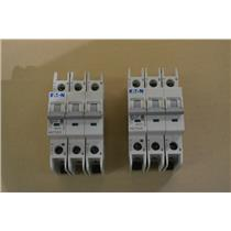 (LOT OF 2) EATON WMZT3D05 CIRCUIT BREAKERS, 3 Pole, 5A, 480/277V