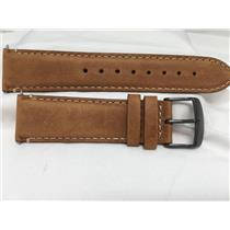 Wenger Watch Band 22mm Wide 4.5mm Thick Tan Leather Strap for Model 01.1041.134