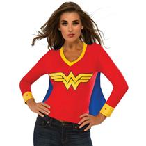 DC Superheroes Wonder Woman Sporty Tee Shirt With Cape Size Large