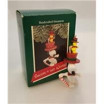 Hallmark Ornament 1989 Snoopy and Woodstock - Peanuts - Signed by Artist #QX4332