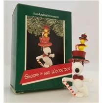 Hallmark Ornament 1989 Snoopy and Woodstock - Peanuts Gang - #QX4332-SDB