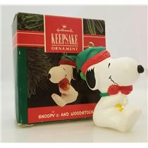 Hallmark Ornament 1990 Snoopy and Woodstock - Peanuts Gang - #QX4723-DBNT