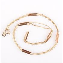 """18k Yellow Gold """"Bar Link"""" Chain Necklace 22"""" Length 5.07g"""