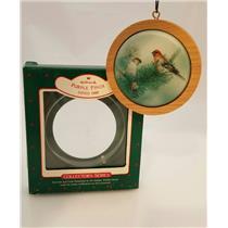 Hallmark Series Ornament 1988 Holiday Wildlife #7 - Purple Finch - #QX3711-SDBNT