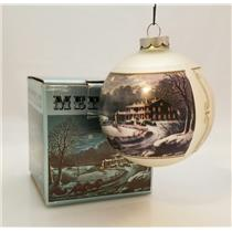 Currier & Ives Glass Ball Ornament American Winter Scenes - Evening - #CIAWSE-DB