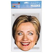 Female Presidential Candidate Celebrity Paper Hillary Cardboard Face Mask