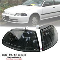 1 Pair Clear Front Corner Light Lamp For Honda Civic EG EH 4DR Sedan 1992-1995