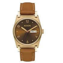 Nixon Women's Jane Leather Watch Light Gold / Manuka / Saddle 36mm