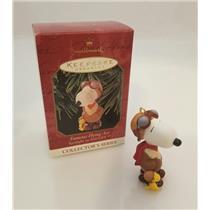 Hallmark Series Ornament 1999 Spotlight on Snoopy #2 - Flying Ace - #QX6409