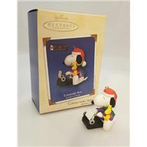 Hallmark Series Ornament 2002 Spotlight on Snoopy #5 - Literary Ace - #QX8043