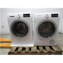 "Bosch 500 24"" Front Load Washer Dryer SET + Stacking Kit WAT28401UC WTG86401UC"