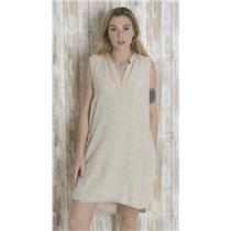 L Bella Dahl Tan & Cream Snakeskin Sleeveless Knee Length Tunic Dress w/Pockets