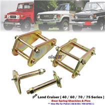 """2"""" 50mm Rear Lift Kit Greasable Shackle & Spring Pin For Land Cruiser 40 70 75"""