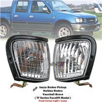 1 Pair Front Corner Light Lamp For Isuzu Holden Rodeo TF Facelift 1998-2002