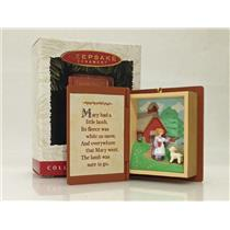 Hallmark Series Ornament 1996 Mother Goose #4 - Mary Had a Little Lamb - #QX5644