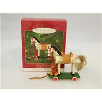 Hallmark Keepsake Series Ornament 2000 A Pony For Christmas #3 - #QX6624