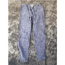 XL CP Shades Denim Blue Relaxed Fit 100% Linen Drawstring Pull On Pant 8128s-162