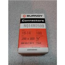 Burndy NQ14M250D Male Connector 14-16 Awg 0.250X.032 300 Volt