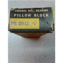 Federal PB2012 Ball Bearing Pillow Block