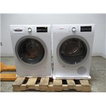 "Bosch 500 24"" Front Load Washer & Dryer SET+Stacking Kit WAT28401UC / WTG86401UC"