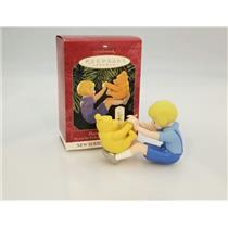 Hallmark Ornament 1999 Christopher Robin Too #1 - Playing with Pooh - #QXD4197