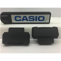 Casio Watch Parts G-2900 Loop Thru Lugs. Pair w/Spring Bars Black