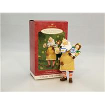 Hallmark Series Ornament 2001 Toymaker Santa #2 - Tea Party - #QX8032