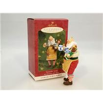 Hallmark Series Ornament 2001 Toymaker Santa #2 - Tea Party - #QX8032-SDB